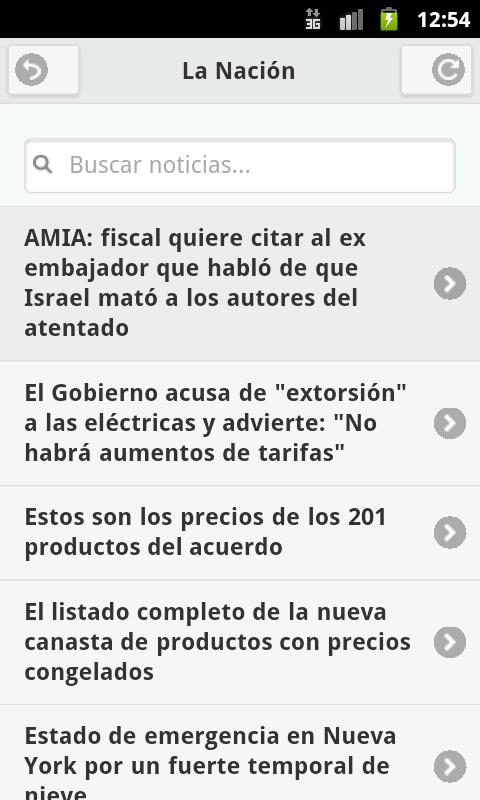 Noticias de Argentina - screenshot