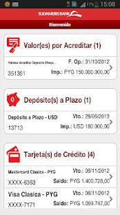 Sudameris Banca Móvil - náhled
