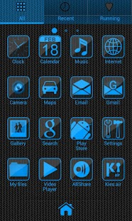 Simple Blue GO Launcher Theme - screenshot thumbnail