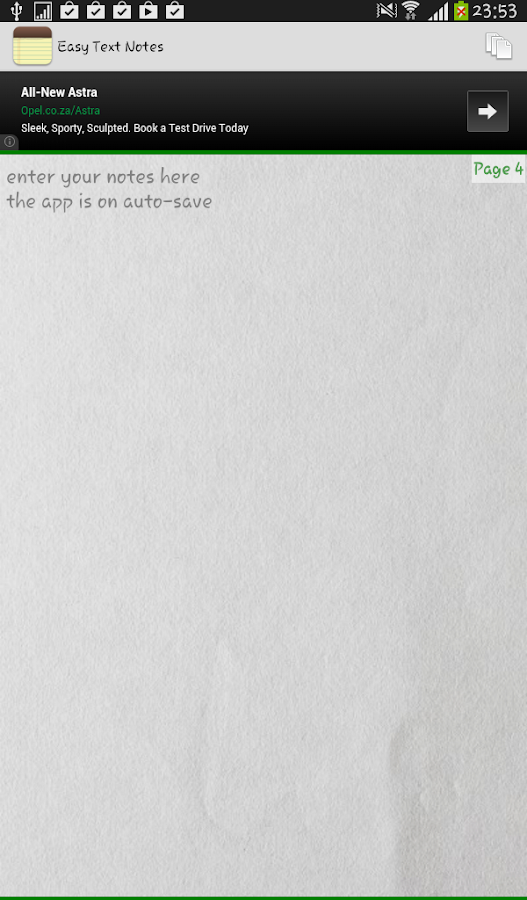 Easy Text Notes- screenshot