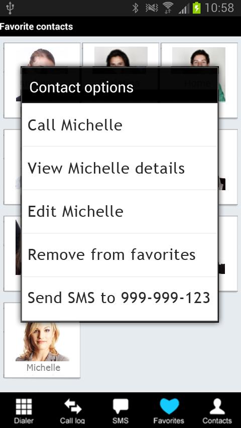 Fast Dialer - screenshot