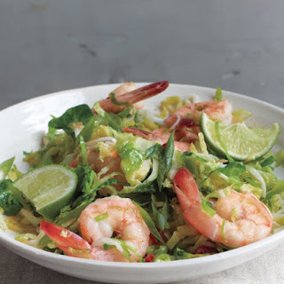 Spicy Shrimp and Brussels Sprout Stir-Fry.