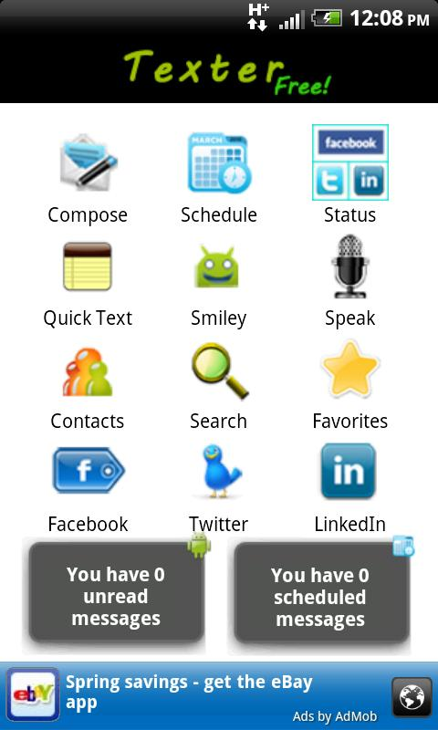 Texter - screenshot