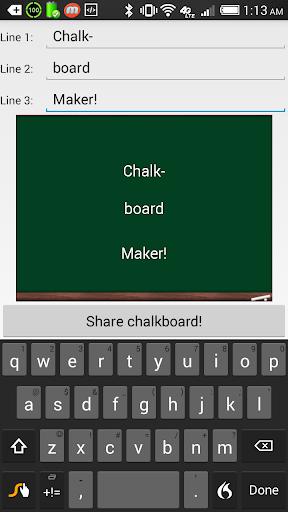 Chalkboard Maker Blackboad