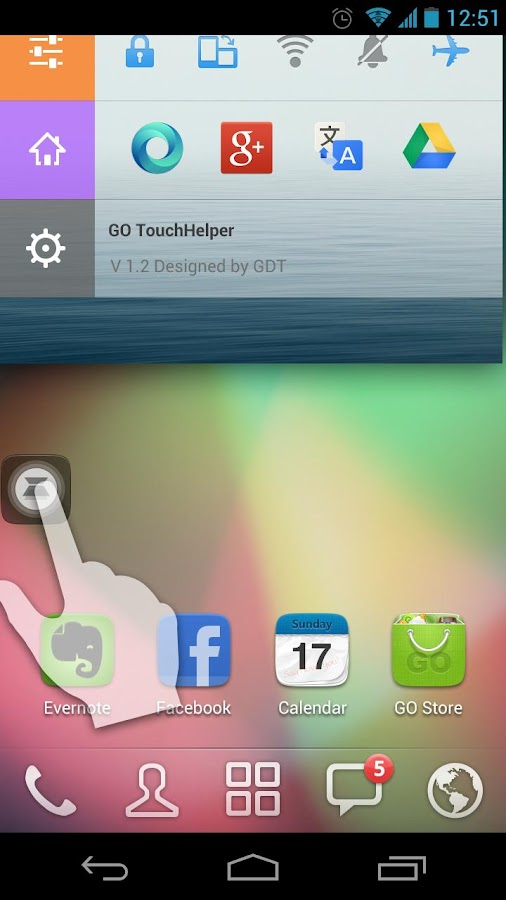 GO TouchHelper - screenshot