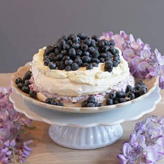 Blueberry Pavlova.