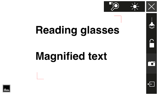 Reading magnifying glass free - screenshot thumbnail