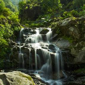 Water Falls by Gurung Purna - Nature Up Close Water ( water, waterfalls, nature, falls, landscape )