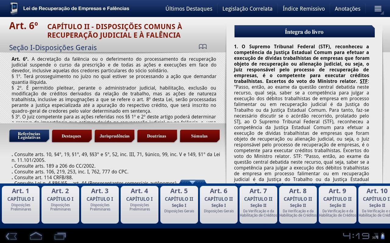 Lei de Falências 2a Ed. Tablet - screenshot