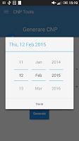 Screenshot of CNP Verificare / Generare