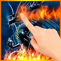 Skull Dragon Flames LWP logo