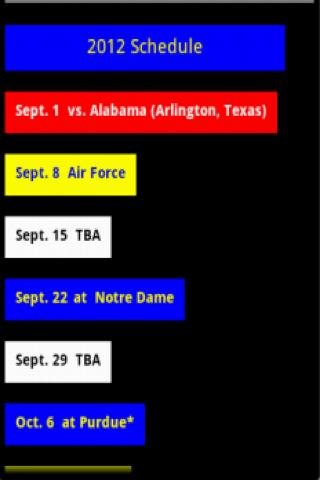 Michigan Football Schedule - screenshot