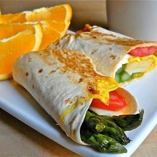 Asparagus Breakfast Wraps