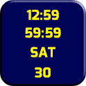 Clock Maize and Blue LWP icon