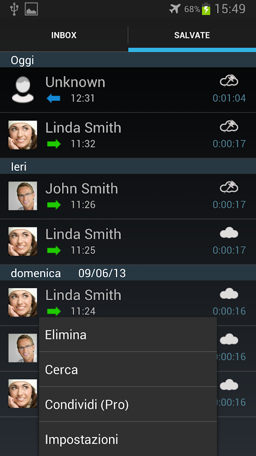 Registratore di chiamate Pro - screenshot