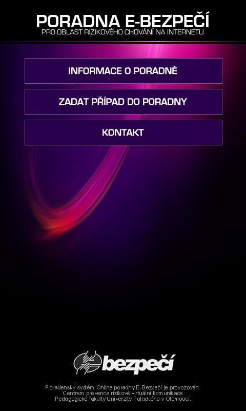 Poradna E-Bezpečí- screenshot