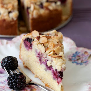 Blackberry Sour Cream Coffee Cake