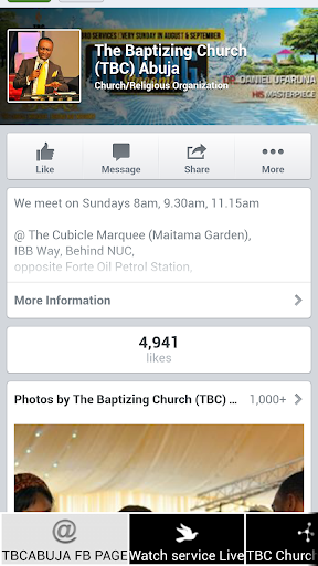 The Baptizing Church Abuja