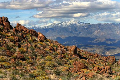 San-Diego-Anza-Borrego - Anza-Borrego mountain landscape, near San Diego.