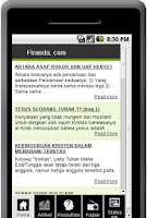 Screenshot of Firanda.com
