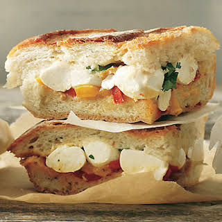 Mozzarella and Pepper Cooler-Pressed Sandwiches.