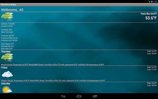 Screenshot of Weather Widget