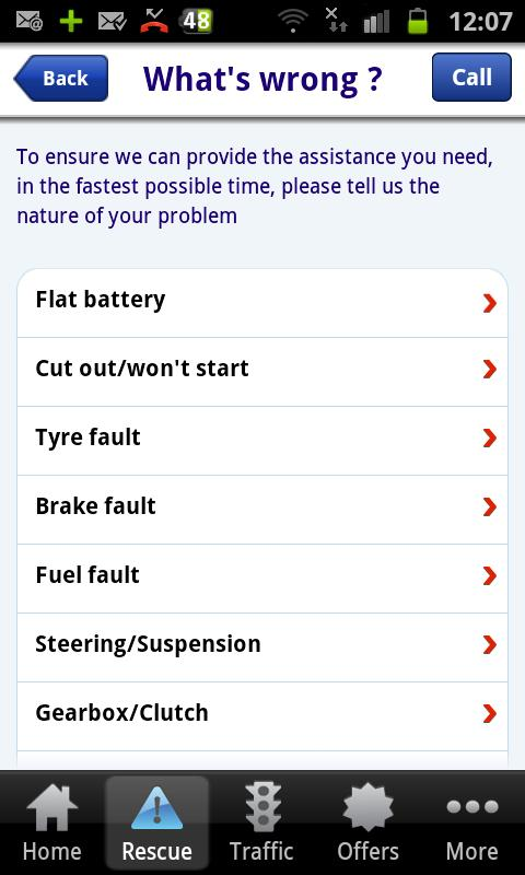 AXA Assistance - screenshot