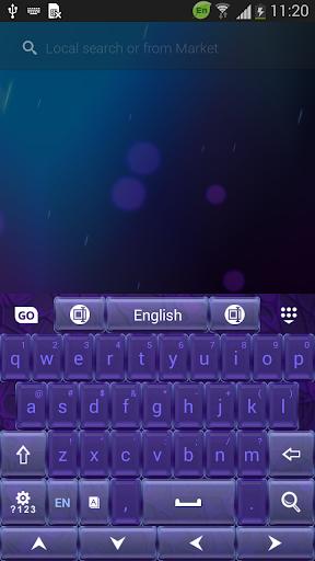 靛藍主題鍵盤