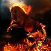 3D Fire Horse 001
