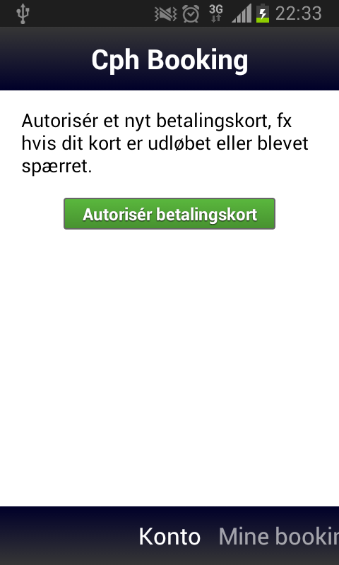 Copenhagen Booking App - screenshot