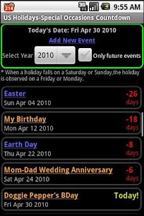 US Holidays-Special Occasions - screenshot thumbnail