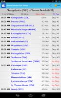 Screenshot of Chennai MRTS/EMU Train Timings