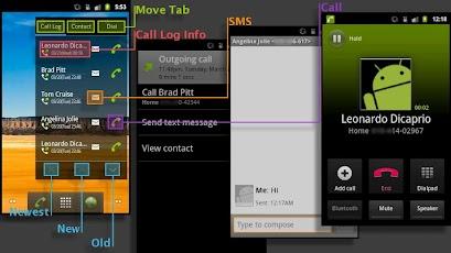 Widget phone controllo chiamate e telefono direttamente - Rubrica android colori diversi ...