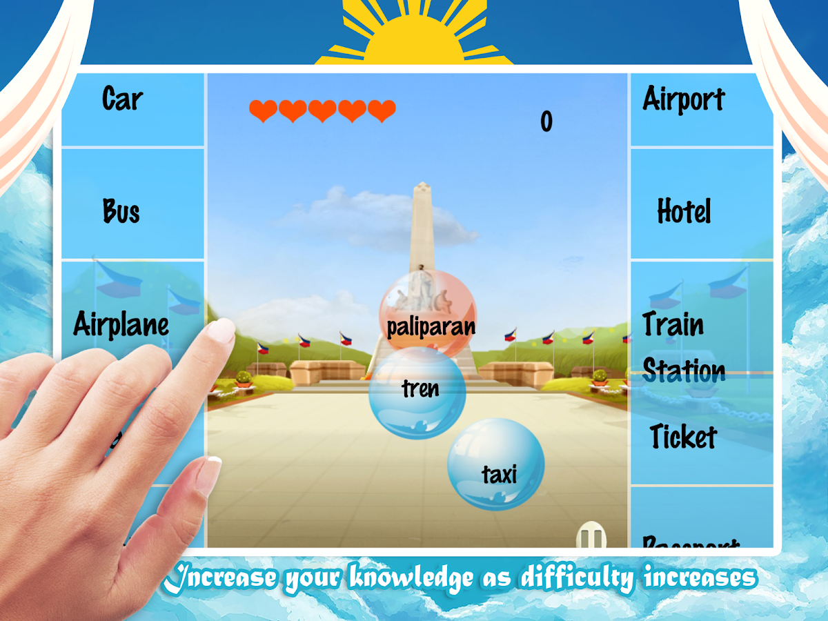 Learn Tagalog Bubble Bath Game- screenshot