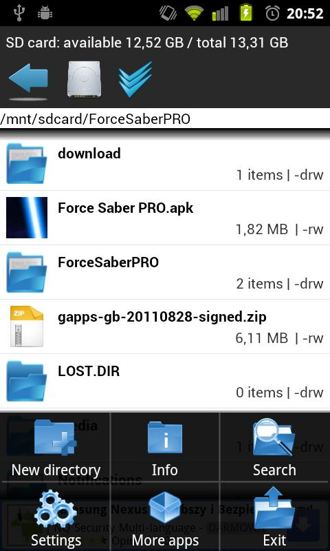 Fast File Manager - screenshot