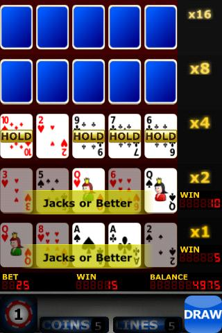 Upgrade Video Poker- screenshot