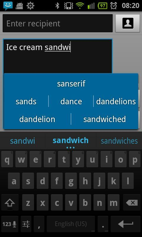 Dutch for ICS keyboard - screenshot