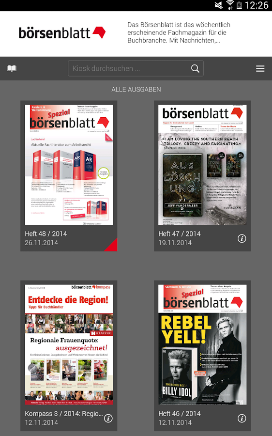 Börsenblatt - screenshot