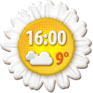 Spring Weather Clock Widget