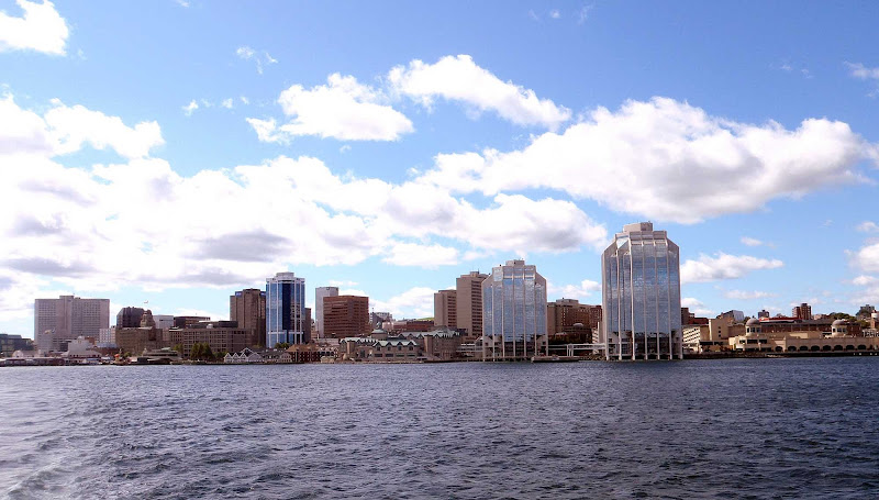 The skyline of Halifax, Nova Scotia.