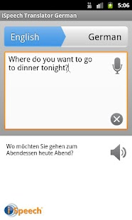 iSpeech German Translator - screenshot thumbnail