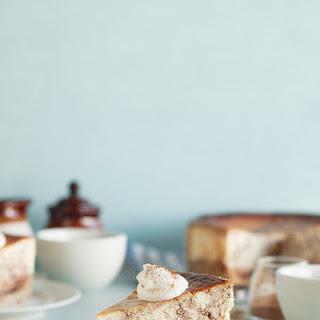 Cinnamon Swirl Cheesecake with Oatmeal Cookie Crust.