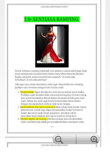 【免費書籍App】Cara Melangsingkan Badan-APP點子