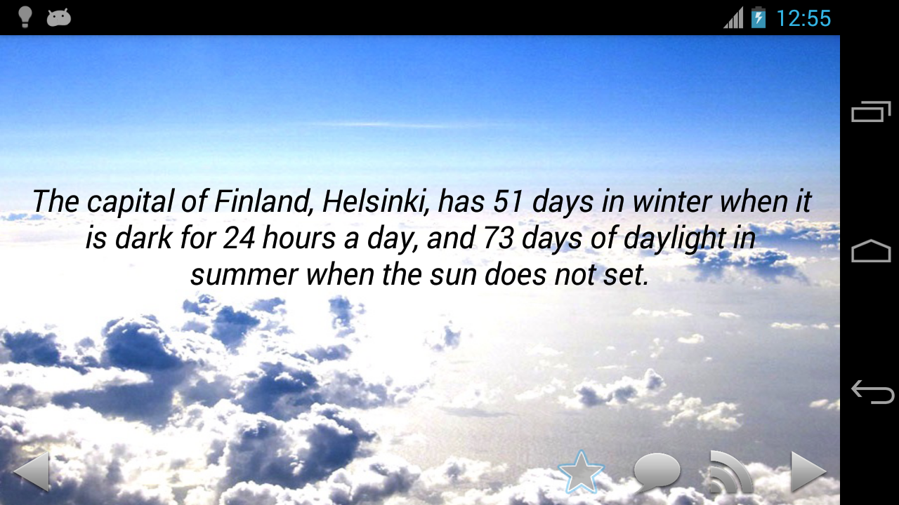 Amazing Weather Facts - screenshot