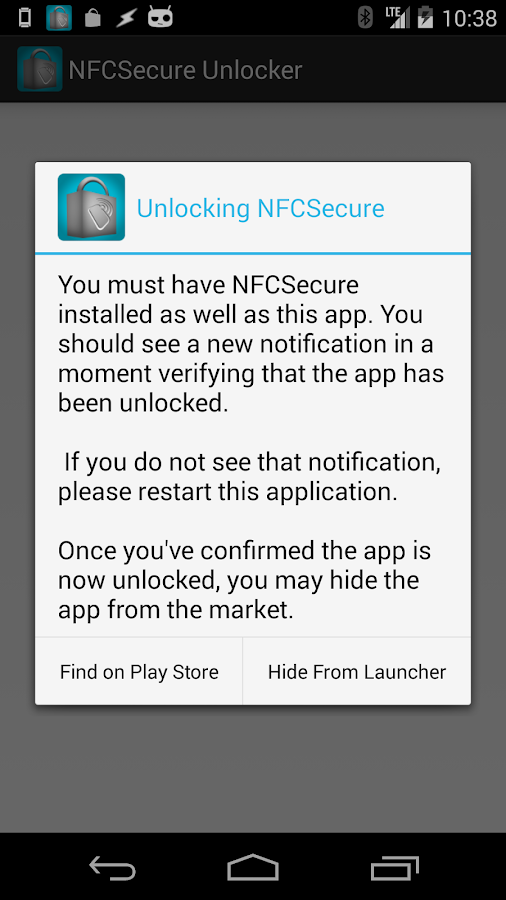 NFCSecure Unlocker (OLD) - screenshot
