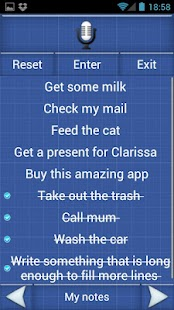 Shopping List Voice Memo Lite - screenshot thumbnail