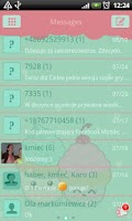 Screenshot of GO SMS Pro Sweet Cupcake Theme