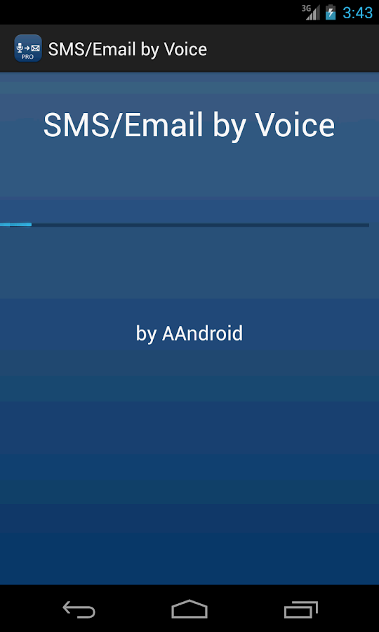 SMS / Email by Voice- screenshot