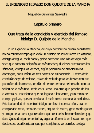 don quijote de la mancha resumen y biografia de miguel de