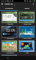 Screenshot of Metro Style Clock Weather Widg